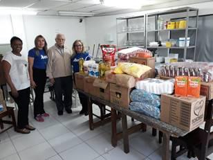 Doação de alimentos para Instituto Jundiaiense Luiz Braille