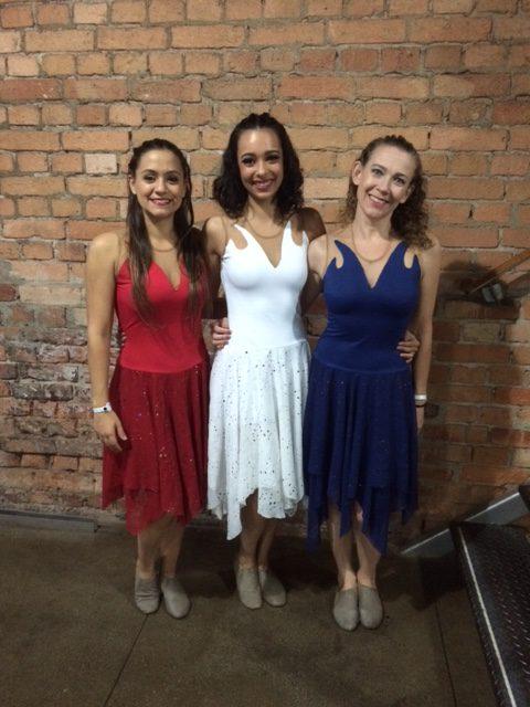 Bailarinas Três Caminhos. Letícia, Beatriz e Valdete